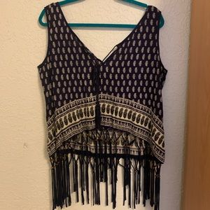 Earthbound needed fringe top XL